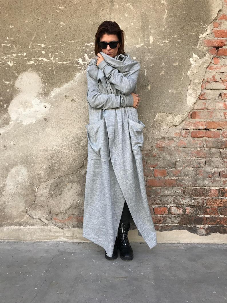 Plus Size Cardigan Wrap Cardigan Women Long Coat Minimalist image 1