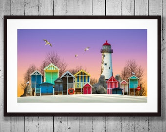 Fine Art Photography - [Beach Huts collection # 1] - Print on Lustre paper
