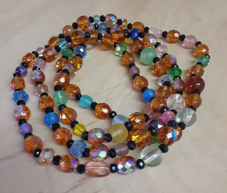 Handmade Continuous Glass Bead Necklace