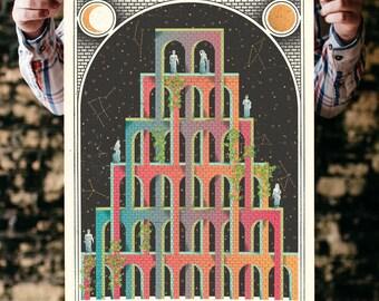 "Mystic Castle Screenprinted Poster - 18"" x 24"""