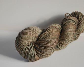 Princess Bride Inspired hand painted yarn, Superwash Merino, worsted yarn, 4 oz, 200 yards, brown, earthy, green, dark, natural, organic