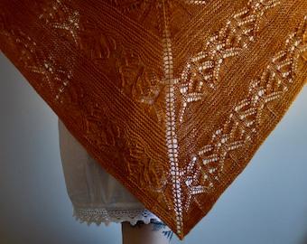 Lace Shawl Kit, Wild Won Pattern, Malabrigo Rios, Knitters Pride Circular Needles, Hand Dyed Shawl Kit, Gifts for Knitters, Lace Knit Shawl