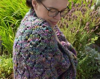 Miraflores Shawl, Knit Pattern, Lace, PDF