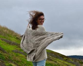 This Too Shawl Pass Kit, Brown Mashup & bfl Yarn, Pattern, DIY, Hand Dyed, Shawl Kit, Gift Idea for Knitters