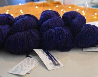 Purple Lace Shawl Kit, Wild Won Pattern, Malabrigo Rios, Knitters Pride Circular Needles, Shawl Kit, Lace Knit Shawl, Purple Majesty, navy