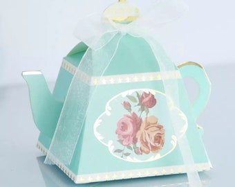 24 tea party teapot party favors favor boxes tea party favors tea party bridal shower baby shower spa night