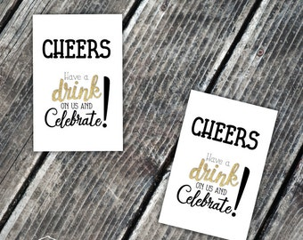 free drink ticket personalized drink party printable etsy
