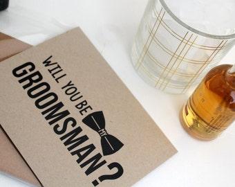 Will you be my Groomsman - be my groomsman - groomsman card - groomsman proposal - groomsman invite - wedding cards - groomsman cards