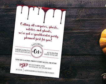 costumes cocktails halloween invitation halloween party etsy