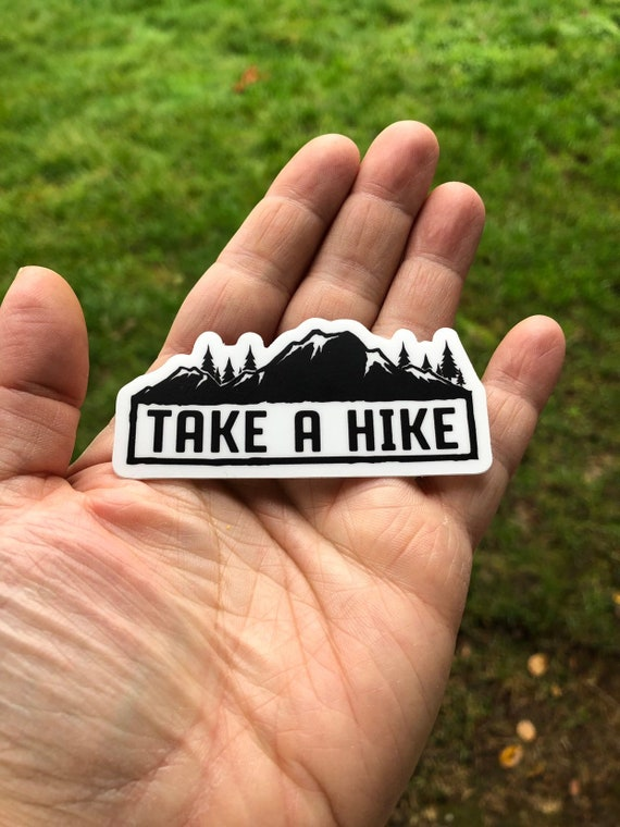 Hike it Window Decal vintage retro style mountain hiking hiker decal sticker