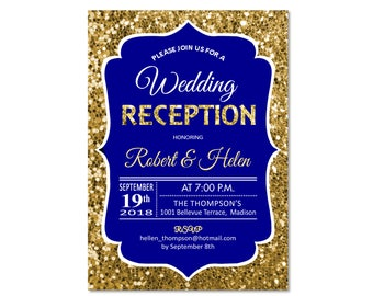Reception Invite Etsy