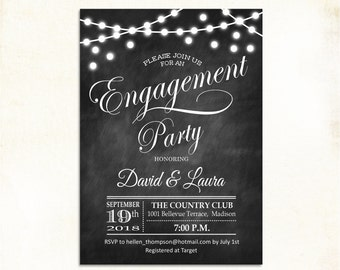 Engagement party invitation Etsy