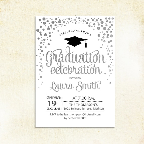 Graduation Party Invitation Graduation Grad Invites Etsy