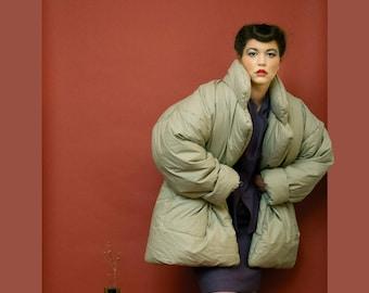 61bbe000f2 rare vintage 1980s OMO Norma Kamali cotton sleeping bag coat