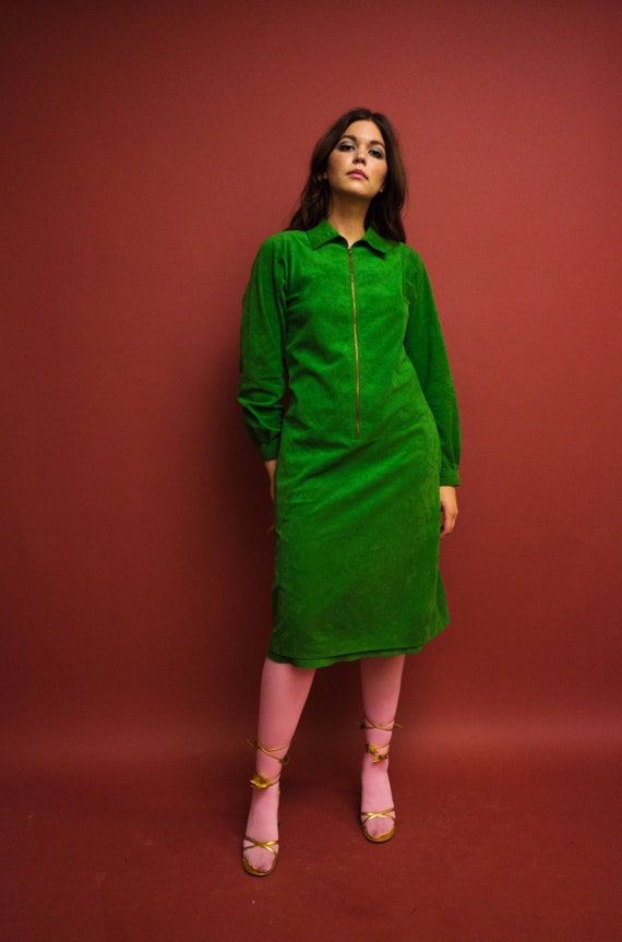 vintage 1970s Halston kelly green zipped front ult