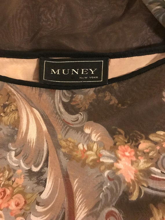 vintage 1980s Muney dolman peasant sleeve baroque… - image 3
