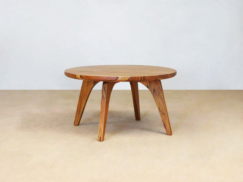 Mid Century Modern, Round Side Table, Handmade Furniture, Sustainably Wood,  Hardwood Furniture, Living Room Table, Wooden Coffee Table