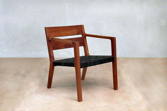 Phenomenal Danish Modern Chair Mid Century Chair Black Leather Armchair Sustainably Sourced Royal Mahogany Mid Century Modern Furniture Masaya Co Inzonedesignstudio Interior Chair Design Inzonedesignstudiocom