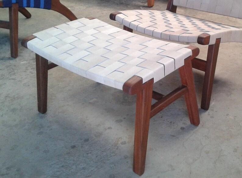 Genial Mid Century Modern Ottoman, Foot Rest, Foot Stool, Lounge Chair, Living  Room, Handmade Furniture, Sustainable Wood