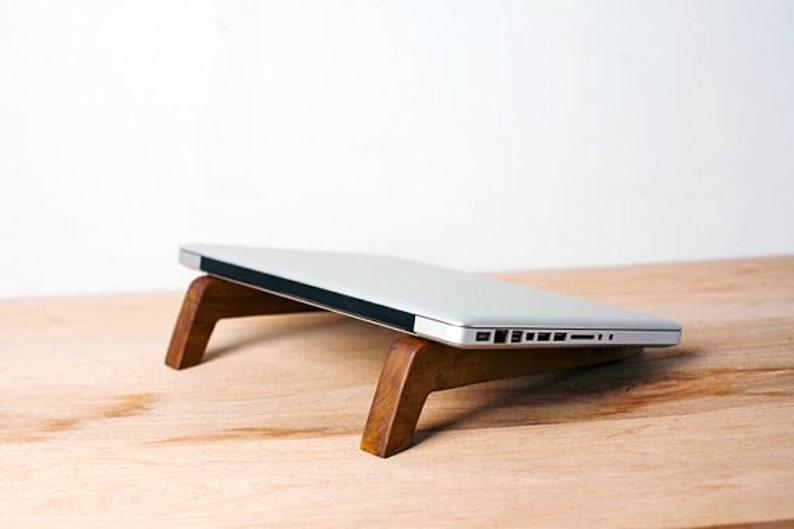 Wood Laptop Station Laptop Stand Macbook Stand  Fathers image 0