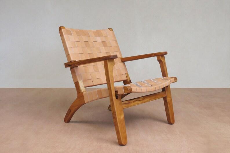 Mid Century Modern Armchair Accent Chair Lounge Chair Teak Etsy