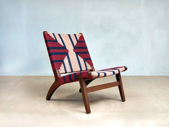 Outstanding Mid Century Modern Lounge Chair Accent Chairs Handcrafted Hardwood Furniture Midcentury Lounger Pattern Ski House Decor Danish Machost Co Dining Chair Design Ideas Machostcouk