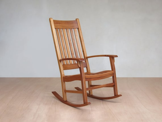 Groovy Rocking Chair Indoor Covered Patio Hardwood Furniture Living Room Chair Handmade Furniture Sustainable Wood Rustic Chair Short Links Chair Design For Home Short Linksinfo