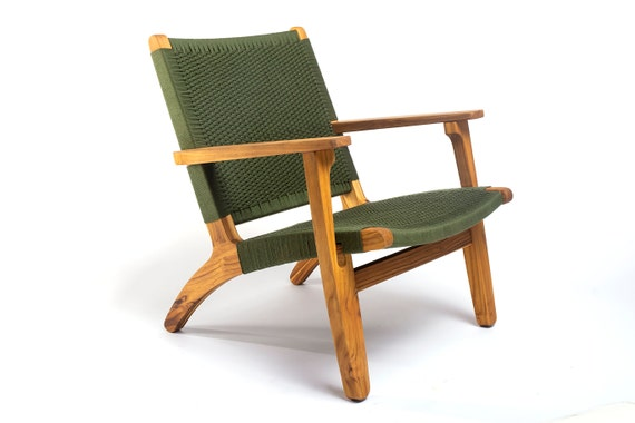 Super Mid Century Modern Armchair Olive Green Lounger Midcentury Lounge Chair Hardwood Furniture Handwoven Retro Rustic Midmod Ocoug Best Dining Table And Chair Ideas Images Ocougorg