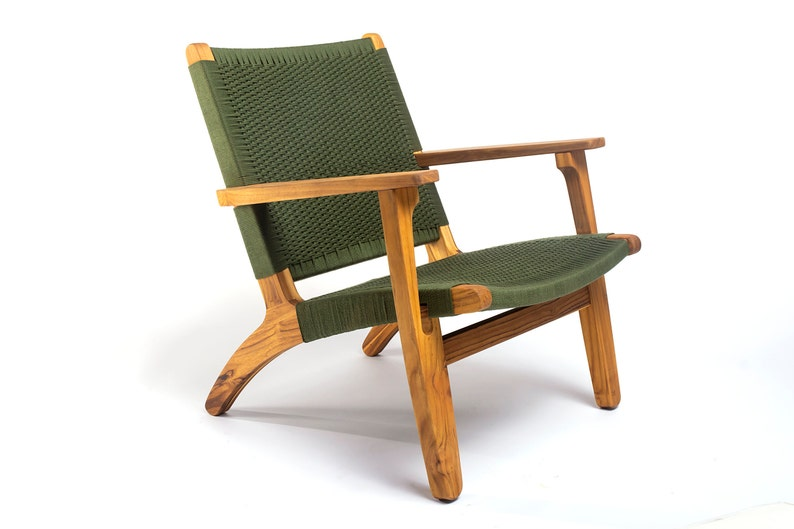 Mid Century Modern Armchair Olive Green Lounger Etsy