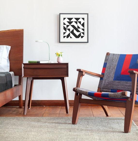 Mid Century Modern, Side Table, Night Stand, Walnut Table, Sustainable  Hardwood, Living Room Bedside Table, Accent Table, Rosita Side Table