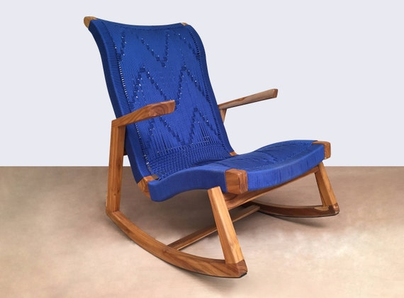 Wondrous Rocking Chair Teak Chair Mid Century Modern Rocking Chairs Indoor Rocking Chair Nursery Chair Midcentury Handwoven Furniture Hardwood Creativecarmelina Interior Chair Design Creativecarmelinacom