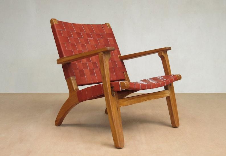 Mid Century Modern Armchair Accent Chair Lounger Chair Teak Etsy