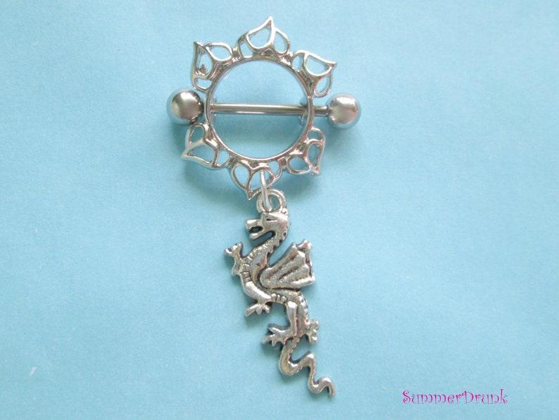 Dragon nipple ring