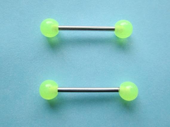 Glow in the dark nipple ring Nipple ring glow nipple jewelry glow nipple piercing Nipple jewelry Nipple piercing Boho nipple ring