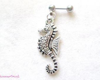 Sea horse tragus earring, Tragus piercing, Tragus barbell, Tragus earring, Cartilage earring, Cartilage piercing, Helix earring,dream