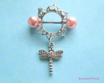 Dragonfly nipple ring, Nipple piercing,nipple piercing , Nipple jewelry,Dragonfly nipple jewelry,Nipple ring, Boho nipple ring,Dreamcatcher