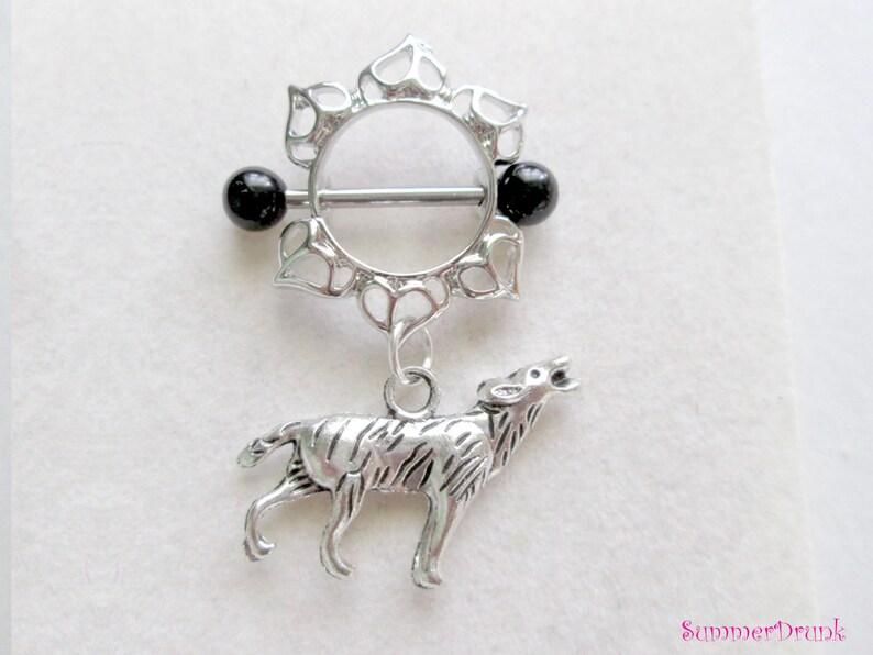 Nipple jewelry,Wolf nipple jewelry Wolf nipple ring Nipple ring Nipple piercing,nipple piercing Boho nipple ring Dreamcatcher