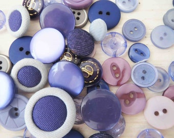 Assorted Purple Buttons x 55