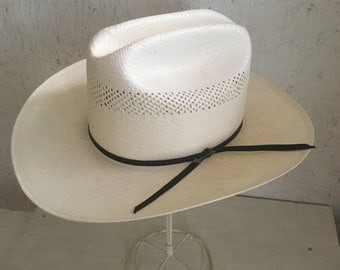 d906cf9bc Stetson Straw Cowboy Hat . National Park Service Hat . NEW Size 6 3/4 Extra  Small
