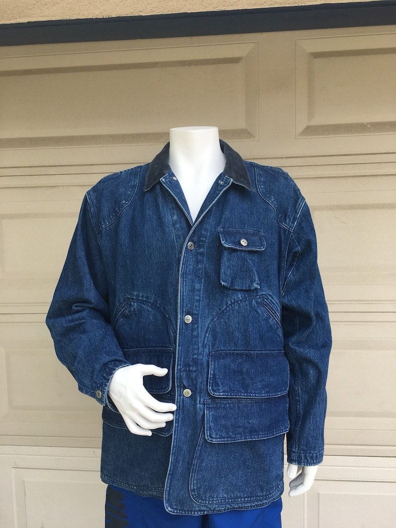 5a6c98af87e Vintage Polo Ralph Lauren Barn Coat 80s Denim Chore Jacket