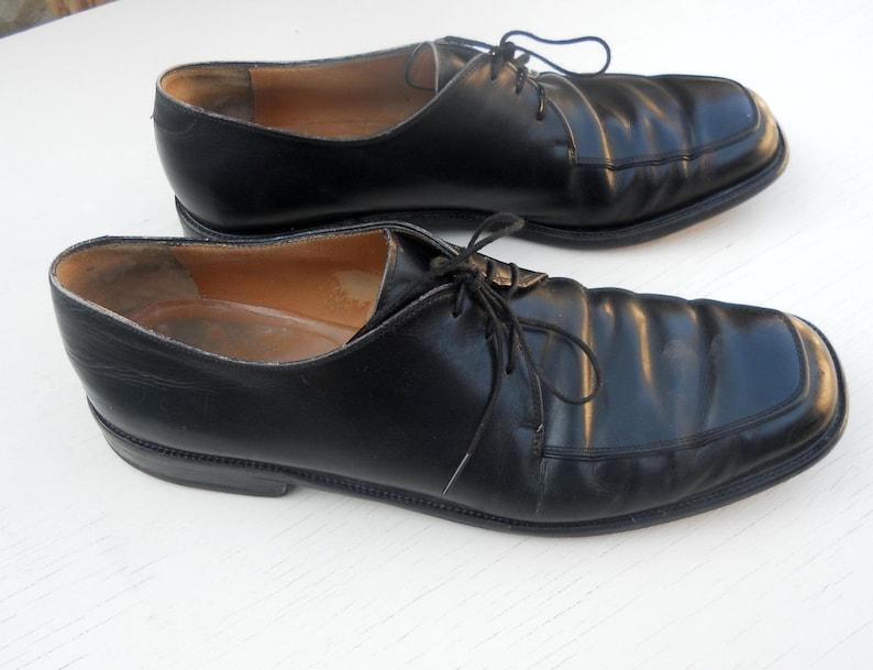 dc6684f4f163 Vintage Men s Salvatore Ferragamo Black Dress Shoes Size