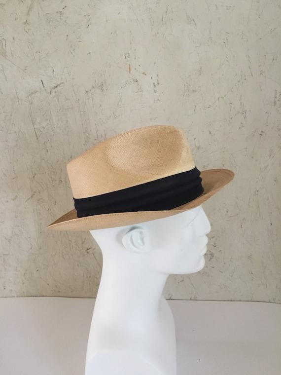 5a75019751180e Vintage 50s 60s Italian Bianchi Genuine Panama Hat Straw | Etsy