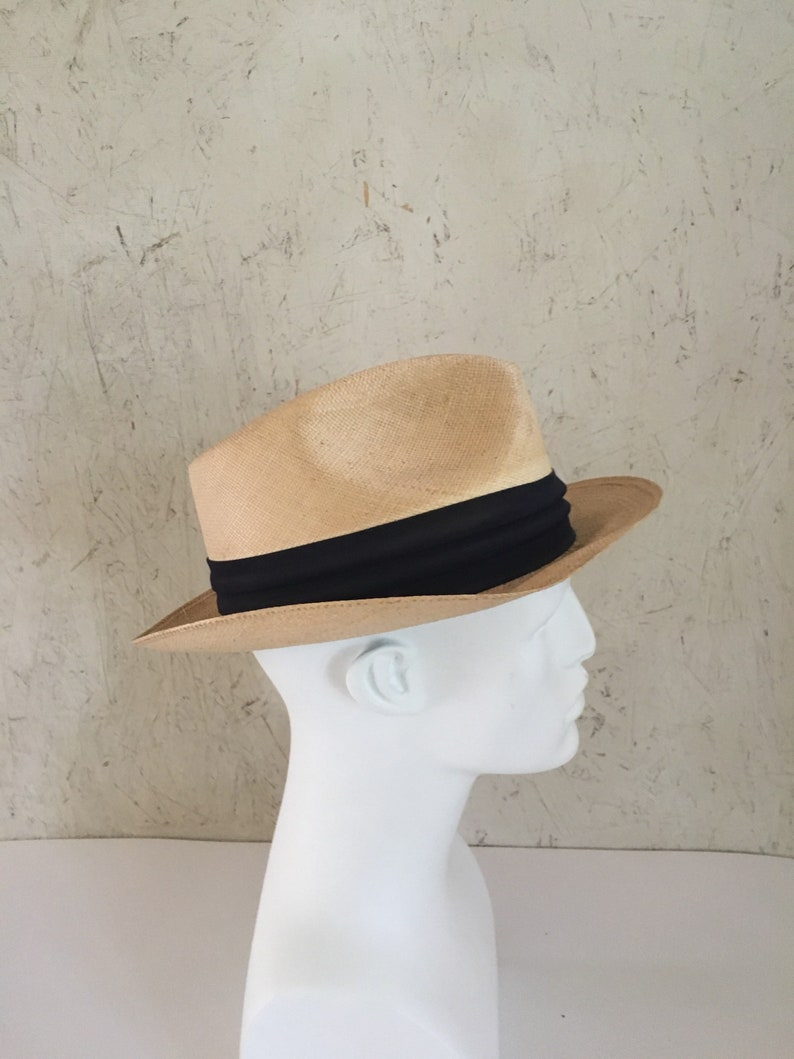 8f2598eb6b4ad Vintage 50s 60s Italian Bianchi Genuine Panama Hat Straw