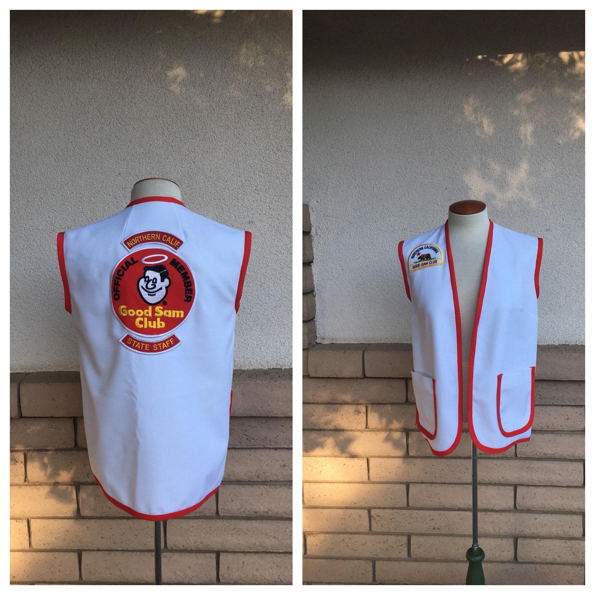 Vintage Official Good Sam Club Staff Shirt Vest RV Camping Northern  California Travel Uniform Women Men Small Medium Large