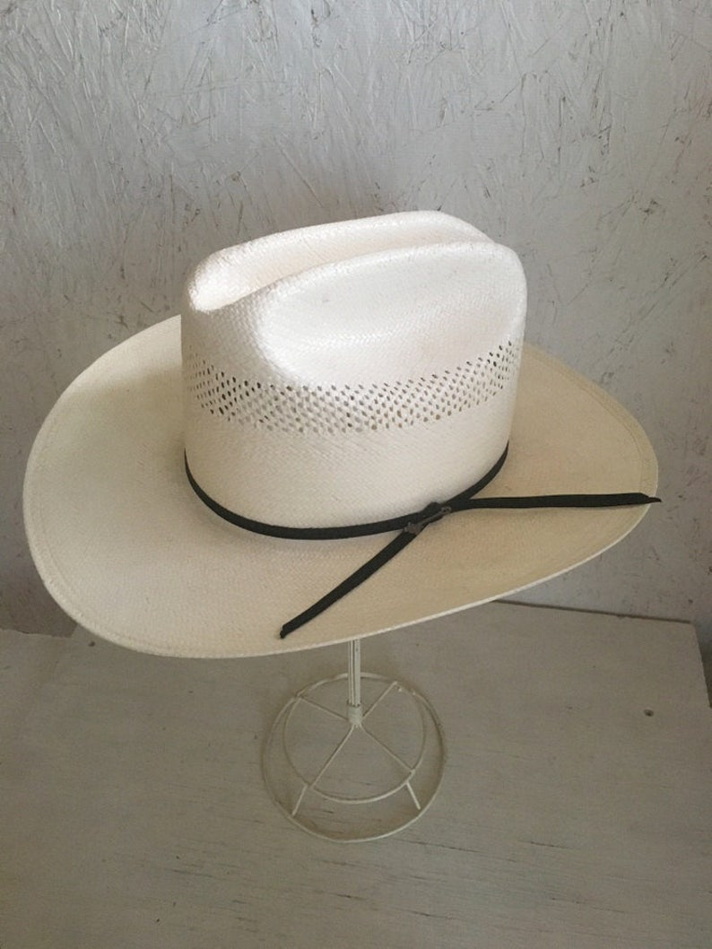 d3d9f47d944f2 Stetson Straw Cowboy Hat . National Park Service Hat . NEW