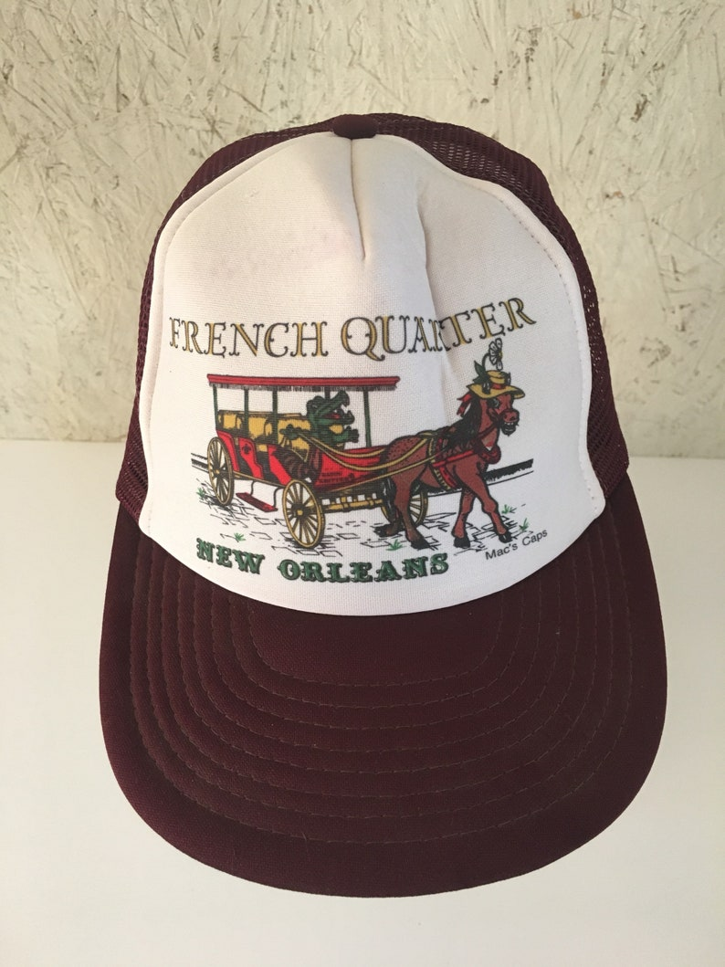 c7045084db8 80s French Quarter Snapback Cap New Orleans Trucker Style Cap