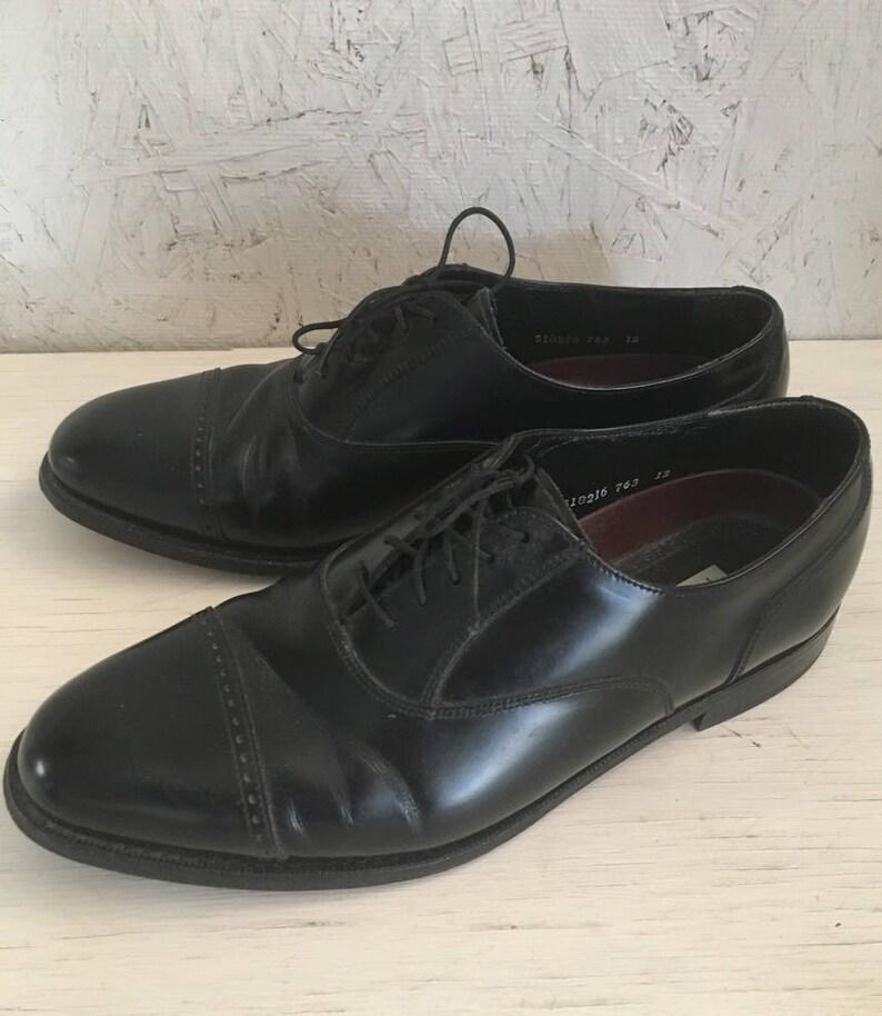 Vintage Men S Black Florsheim Cap Toe Shoes Men S Etsy
