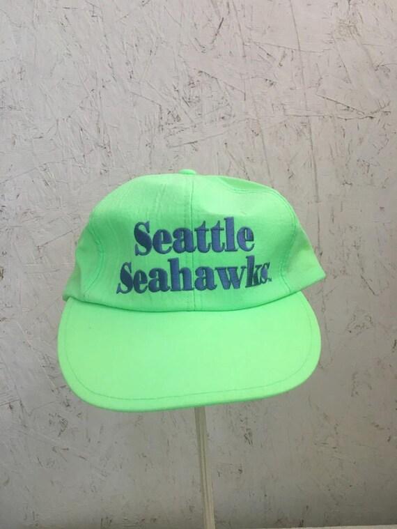 Vintage 80s Neon Green Seattle Seahawks Snapback T