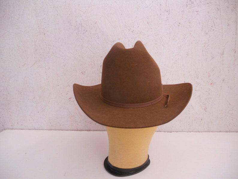 Vintage Resistol Cowboy Hat . NIOB . Chestnut Brown Felt  1a0f417b03c