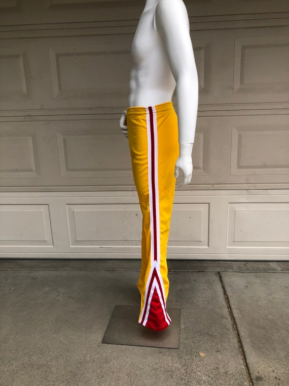 Vintage 70s 80s Flared Yellow Track Pants Felco To